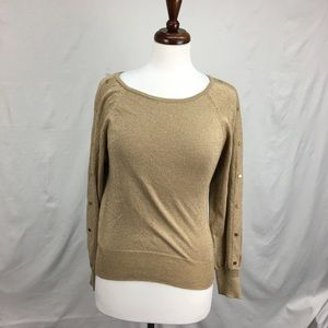 Michael Kors Golden Sweater with Hardware Sleeves